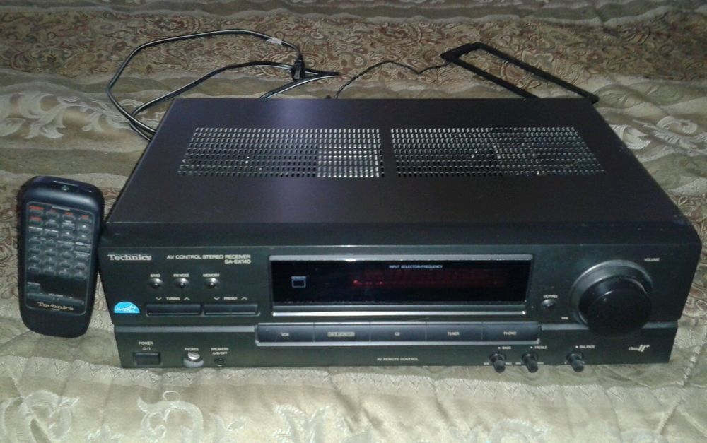 Technics SA-EX140 AV control AM/FM stereo receiver  #Technics auction ends Feb 8, 11:56 am