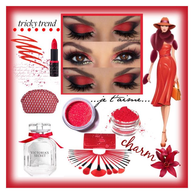 """""""Red Eye"""" by lisaparkin ❤ liked on Polyvore featuring beauty, Christian Louboutin, Victoria's Secret, Lime Crime, Urban Decay and Vera Bradley"""