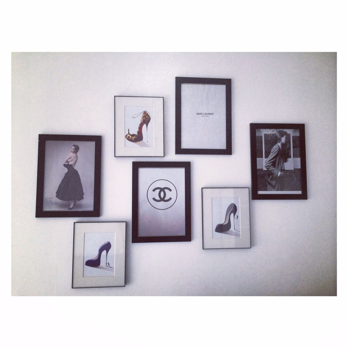 The wall ! #chanel #saintlaurent #shoes #louboutin