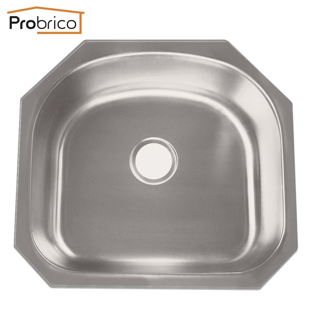 Reviews Probrico CUPC Brushed Stainless Steel Single Bowl Undermount ...