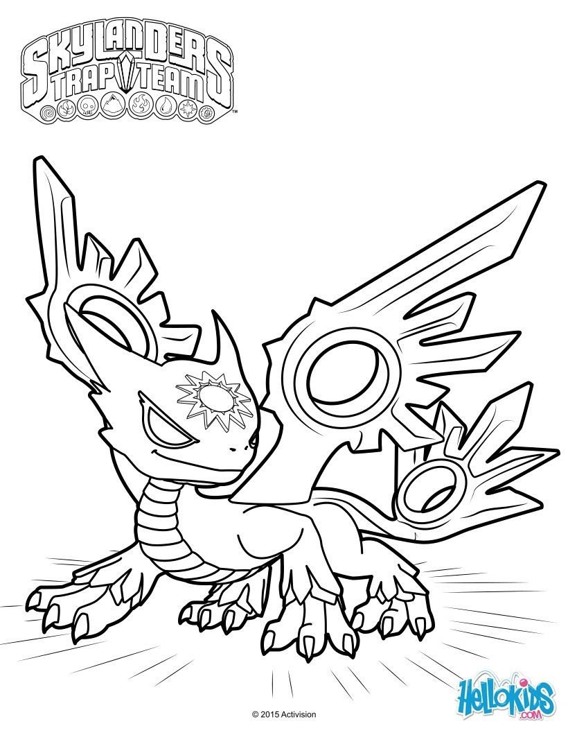 Spotlight the white dragon coloring page from skylanders trap team ...