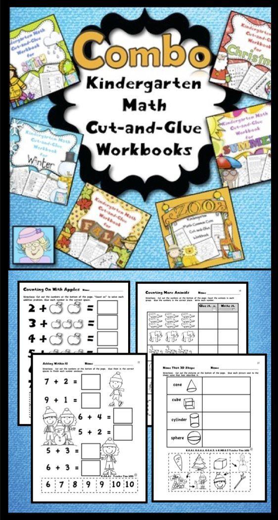 Addition & Subtraction Worksheets Kindergarten Math BUNDLE & Boom ...