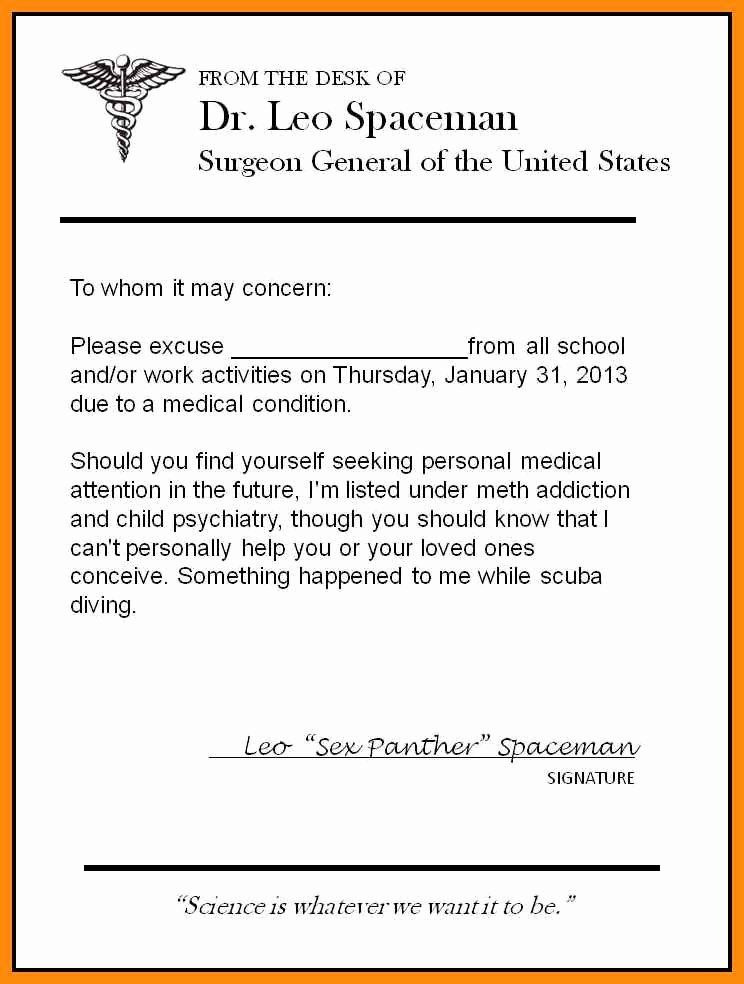 Urgent Care Doctor Note in 2020 | Doctors note template ...