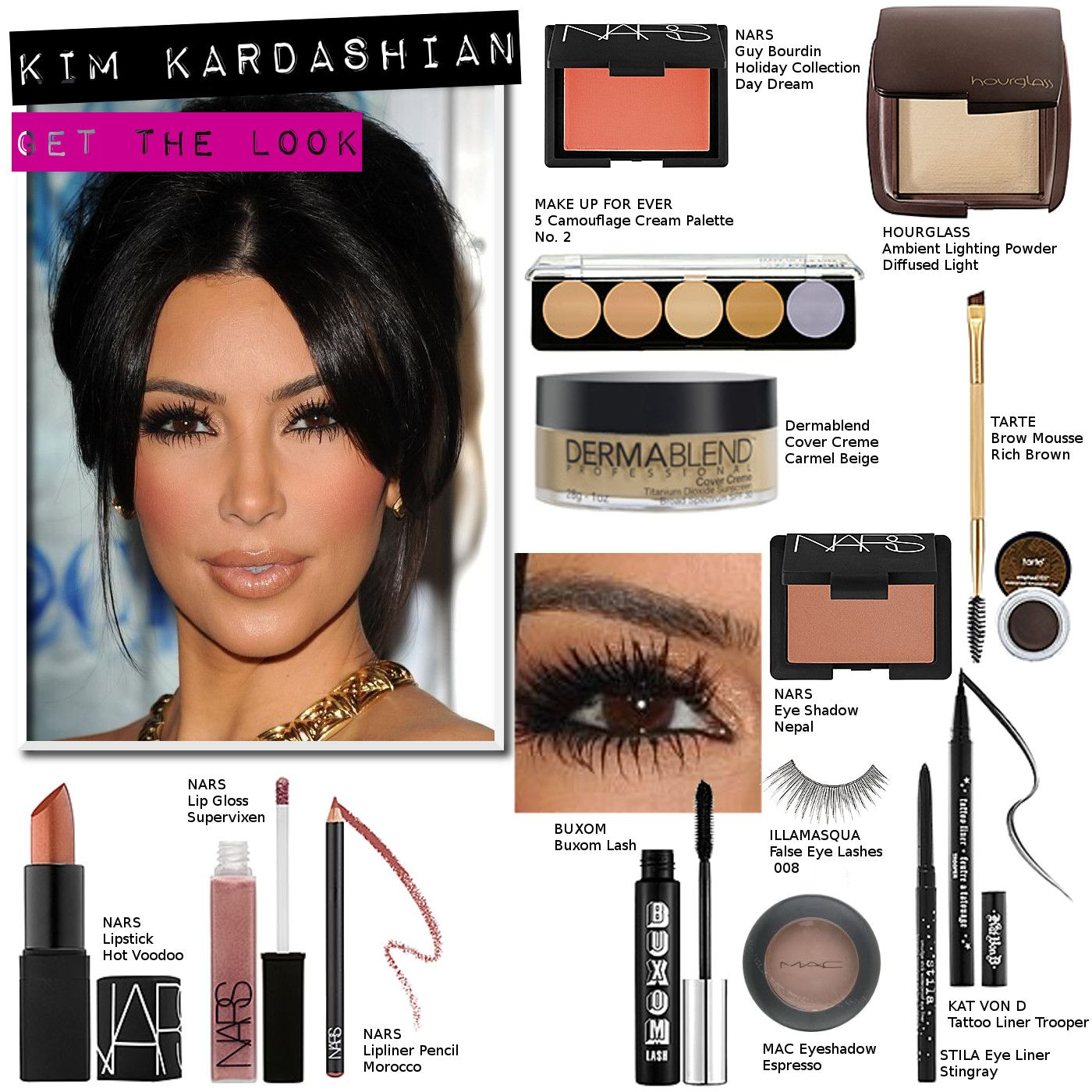 99ac2097313 Kim Kardashian Makeup how to's and DUPES. not a fan of hers, but she does  have good makeup.