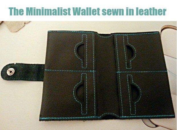 Simple wallet sewing pattern - free. Can be made in Kraft Tex, real ...