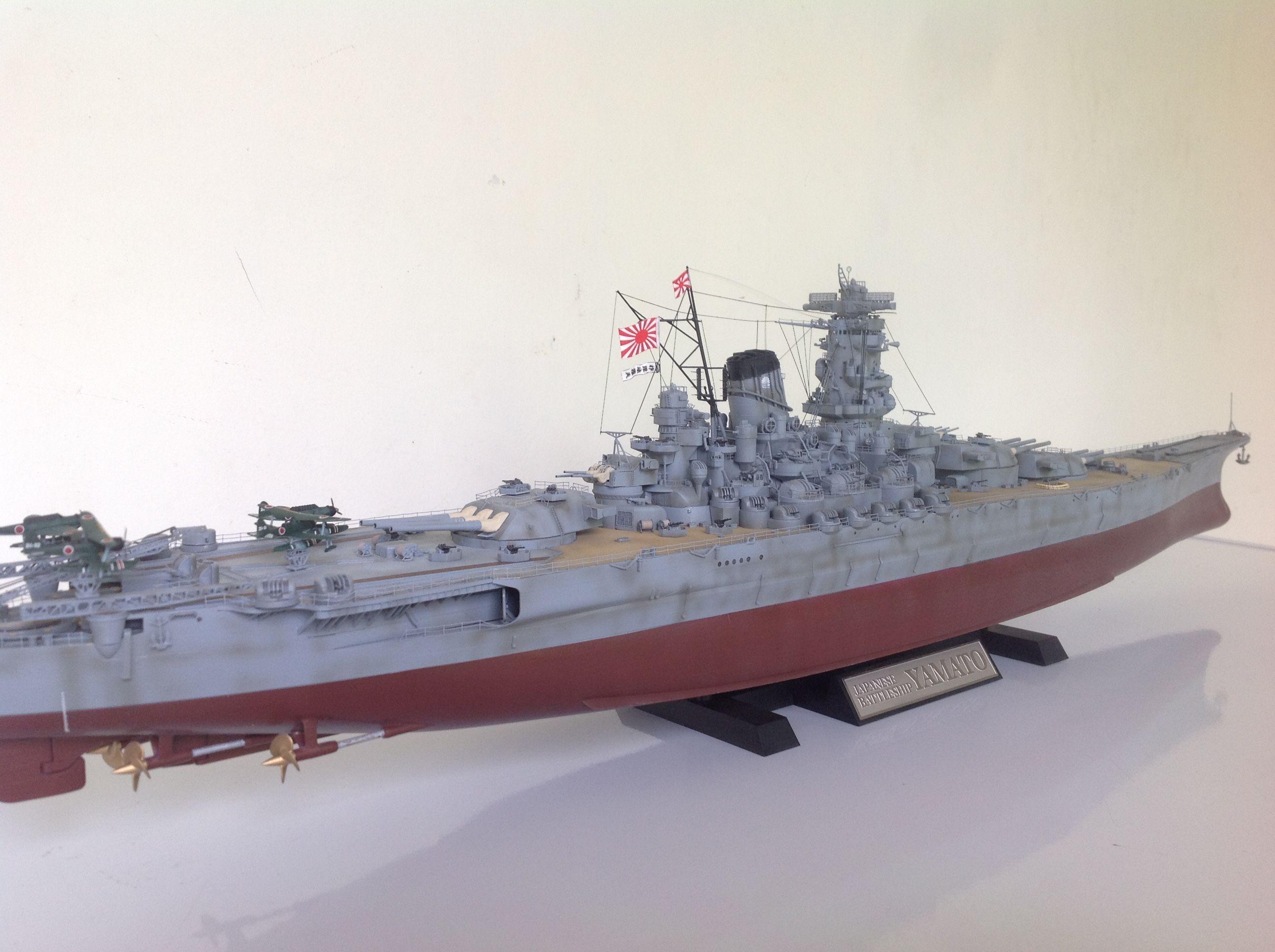 1/350 scale IJN Yamato   ademodelart ( 11th build )