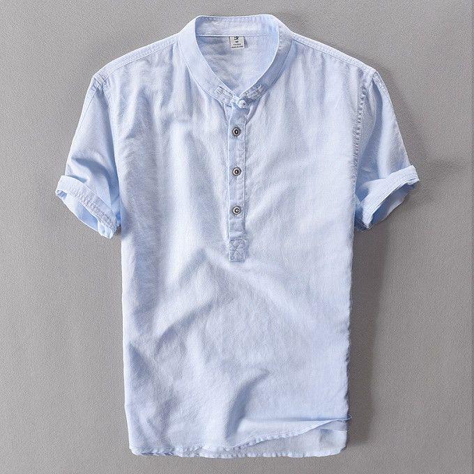 Slim Short Sleeve Linen Short Collor Polo Shirts