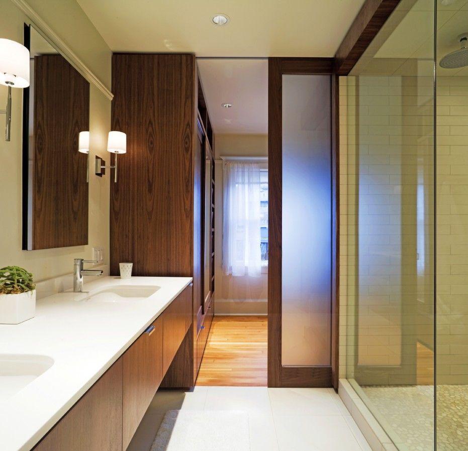 Contemporary Bathroom Doors: Inspiring Ideas For Excellent Wooden Pocket Doors Design