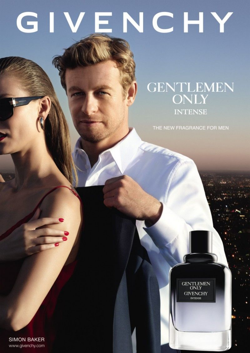 The Mentalist Star Simon Baker Fronts Givenchy Gentlemen Only Intense Fragrance Campaign