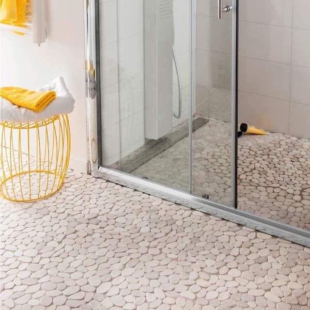 carrelage sol galets blanc 30 x 30 cm carrelage sol castorama et carrelage. Black Bedroom Furniture Sets. Home Design Ideas