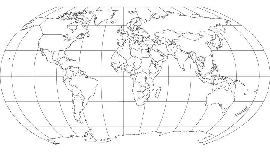 Cartina Del Planisfero Muta.Planisfero Da Colorare Pdf Colorare Immagini