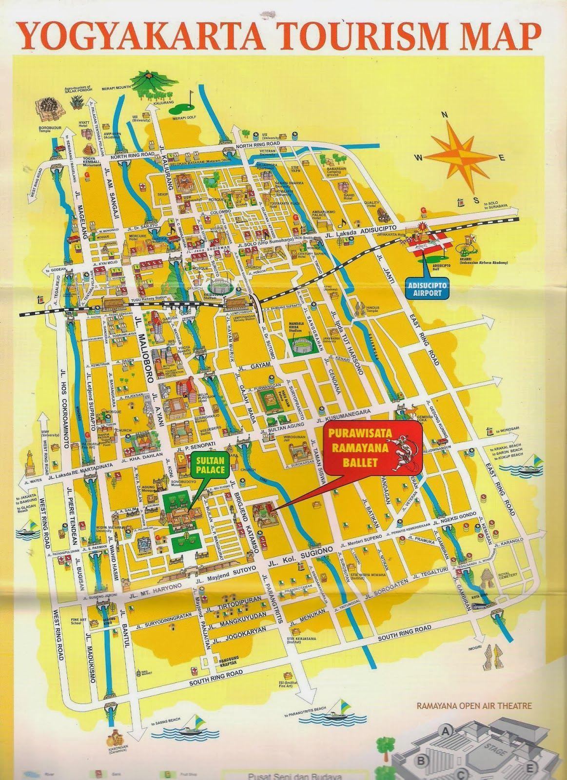 RENTAL MOBIL JOGJA MURAH JOGJA CAHYA TRANSPORT Peta Jogjakarta - Yogyakarta map