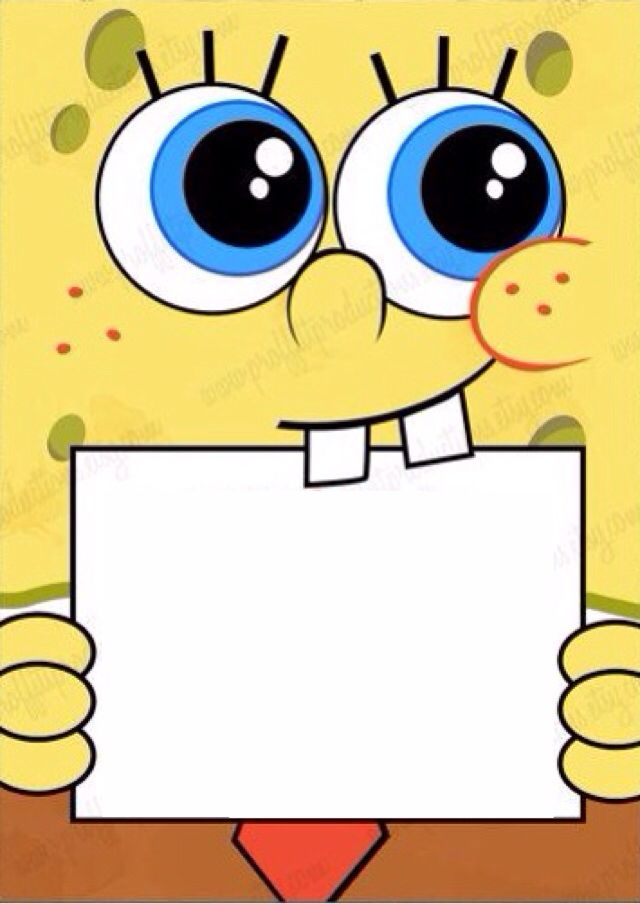 Type In Your Own Wording To This Spongebob Invite Diy