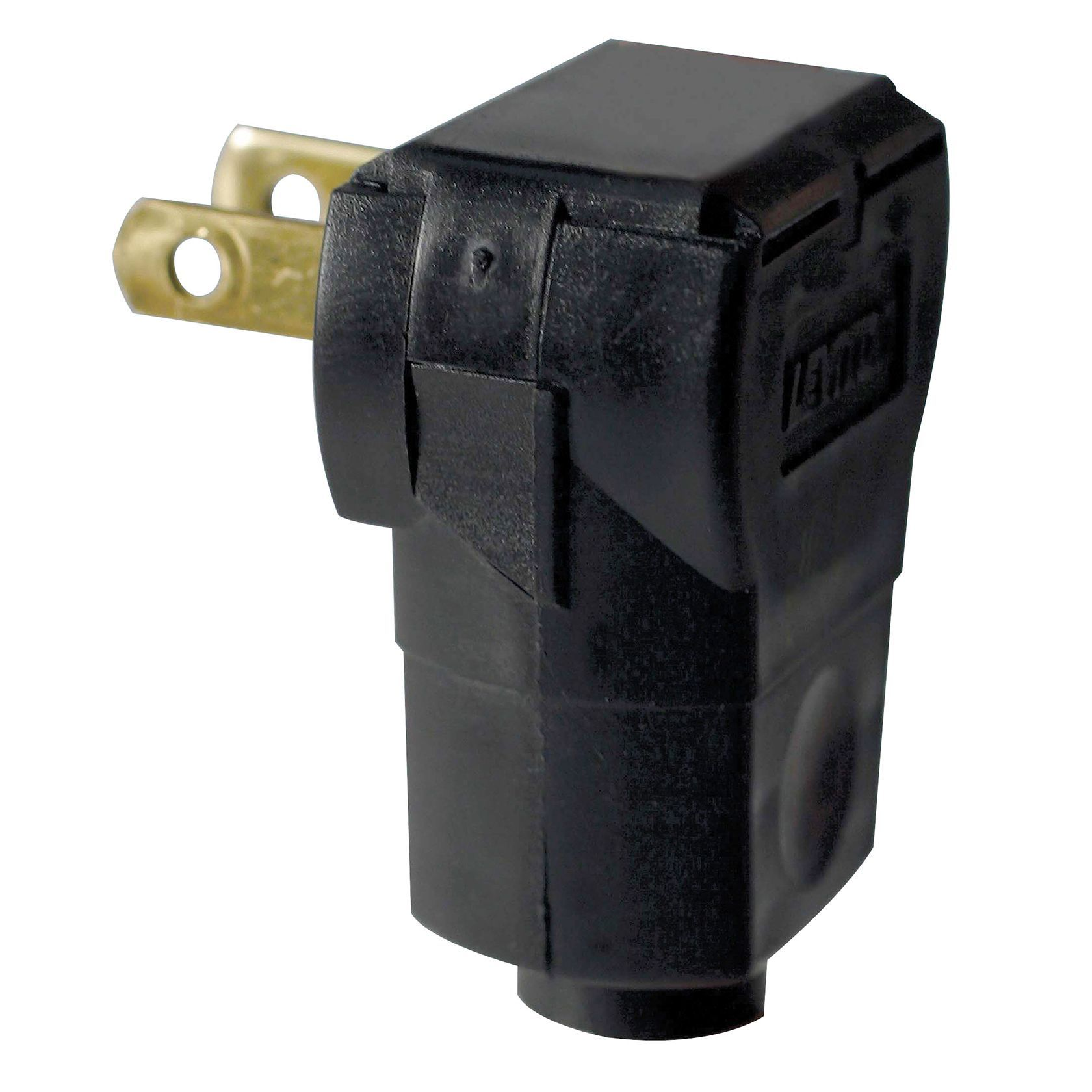 Leviton 002-101AN-O Brown Residential Grade Straight Blade Angle Plug (Other electrical), Black
