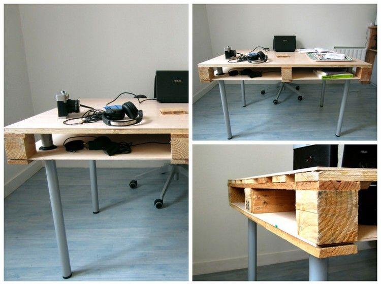 Bureau en bois idées diy très cool en palette europe
