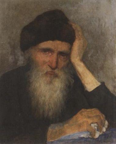 Porträt eines alten Mannes mit Bart by Albert Janesch