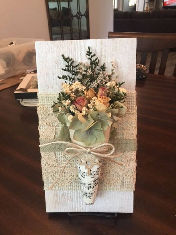 Dried Flower Wall Hanging Bouquet