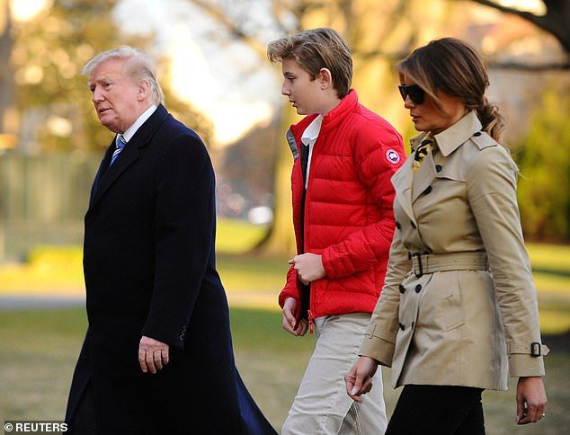 9a1a8eaec0131 Melania Trump shares 13th birthday tribute to son Barron | Daily Mail Online