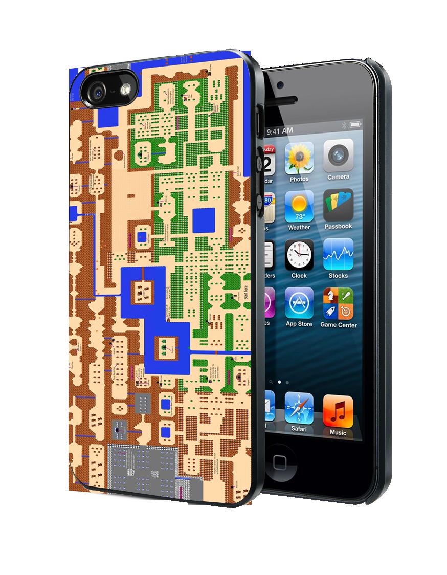 World Map Legend of Zelda iPhone 4 4S 5 5S 5C Case
