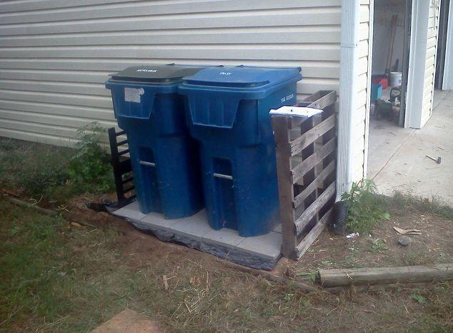 Captivating Trash Can Patio, Concrete Masonry, Patio, Test Driving The Trash Can Patio  And