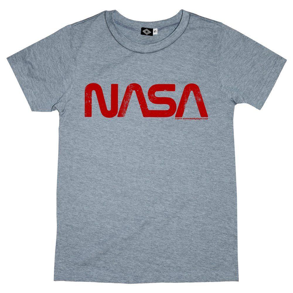 Hank Player 'NASA Retro Worm Logo' Men's TShirt Amazon