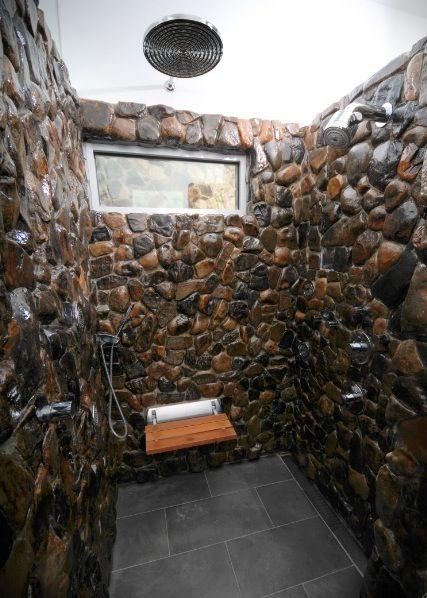 5 Master Suite Design Concepts Stone Shower Stone Bathroom Natural Stone Bathroom