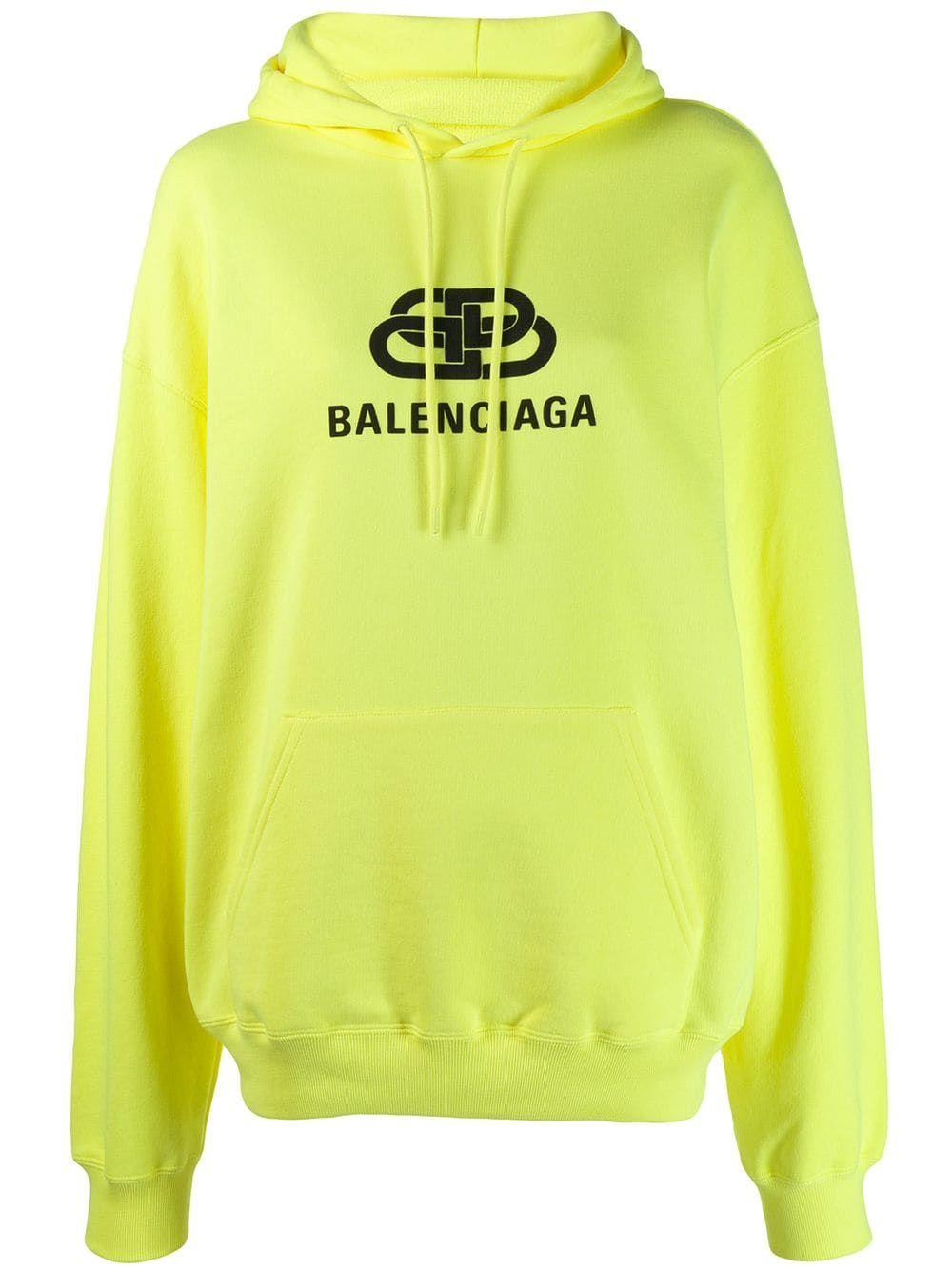 Balenciaga Back Pulled Hoodie Yellow In 2021 Hoodies Hoodie Design Vlone Clothing [ 1334 x 1000 Pixel ]