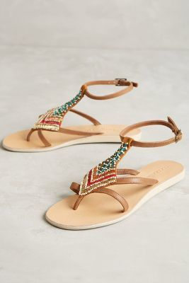 Cocobelle Arrow Sandals Brown