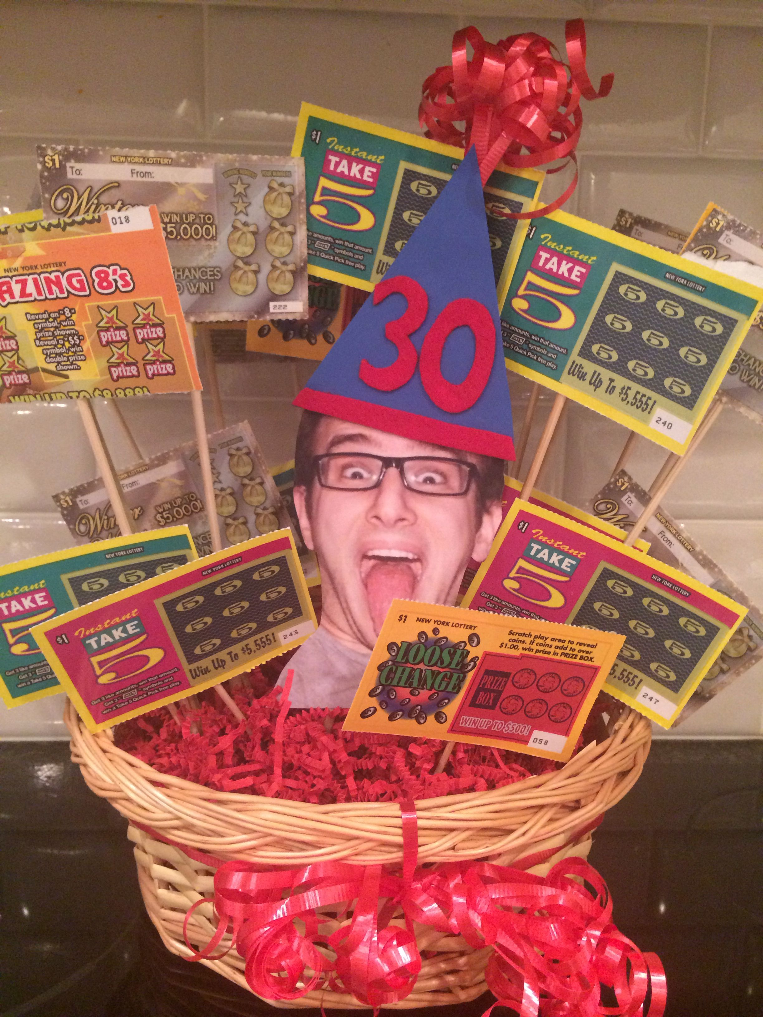 Lottery Ticket Bouquet: 30 Tickets For 30th Birthday
