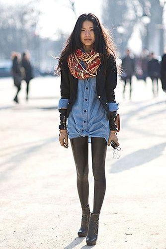 56ce84da04ea Cómo combinar unos leggins de cuero esta primavera | moda | Moda ...