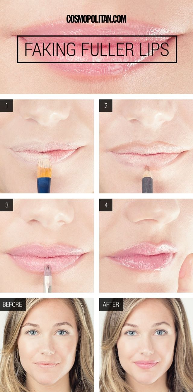 How To Fake Larger Lips - How To Get Larger Lips With Makeup