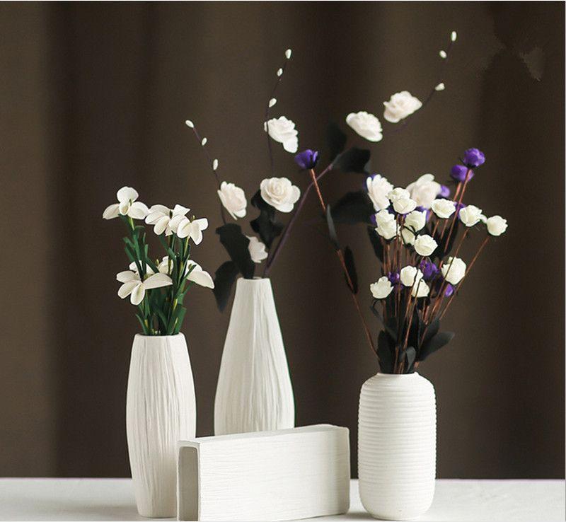 Fashion White Ceramic Flower Vase For Homesdecorative Vaseshome