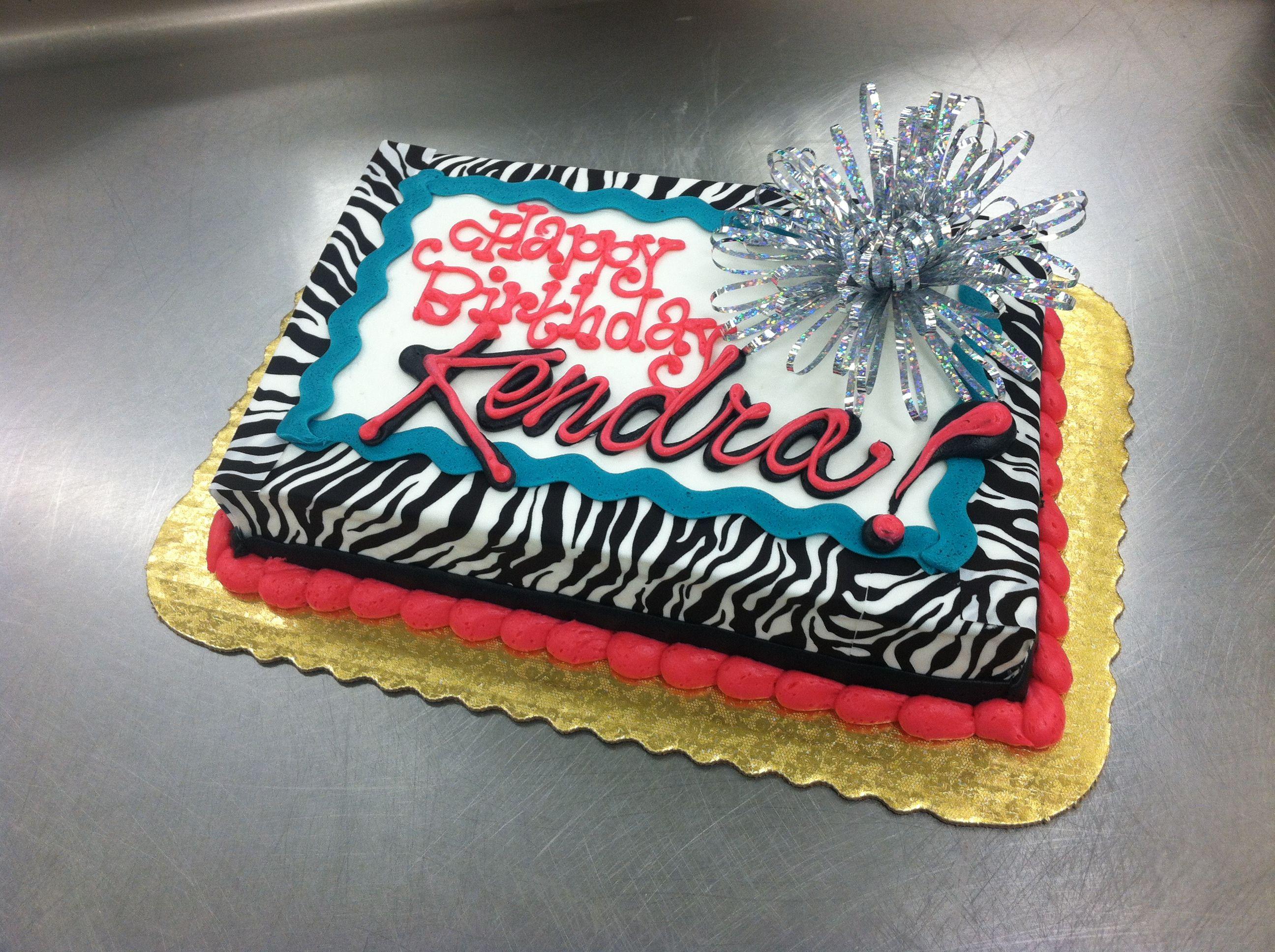 Great Tween Cake With Zebra Print By Stephanie Dillon