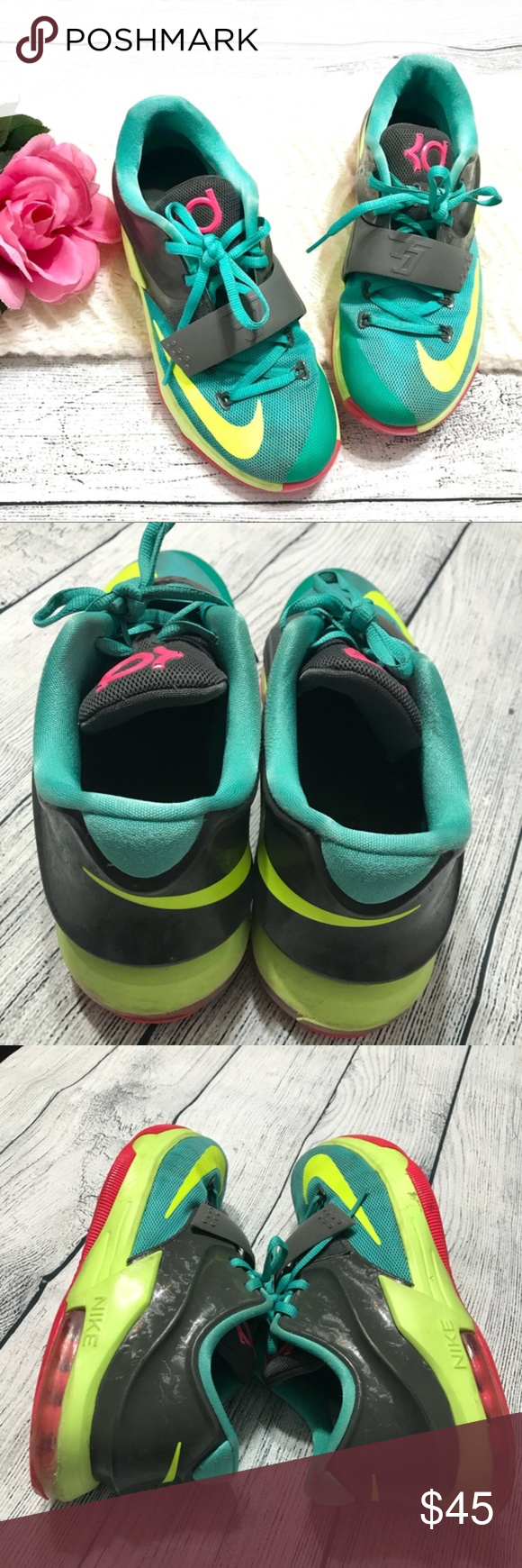 1f0069502e0f7 Nike Youth Teal Rubber Shoes Size 6Y Great pre-loved condition  Size 6Y  24  cm No damage  Item F70 Nike Shoes Sneakers