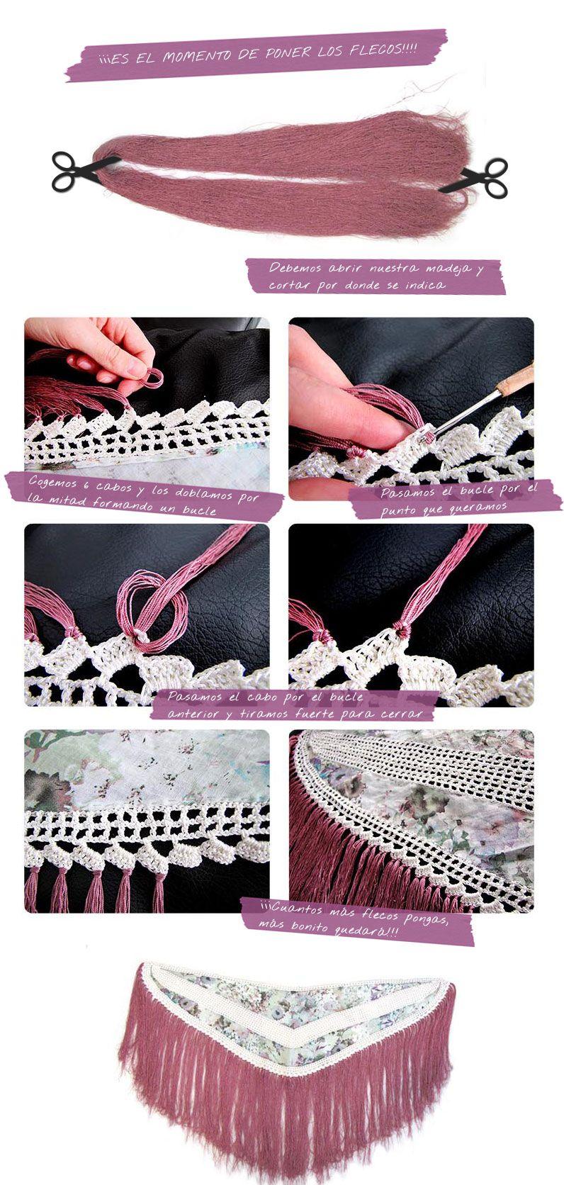 Mantoncillo De Flamenca Diy Tutorial Para Hacerlo Tu Misma Crochet Tricot Et Crochet Poncho Crochet