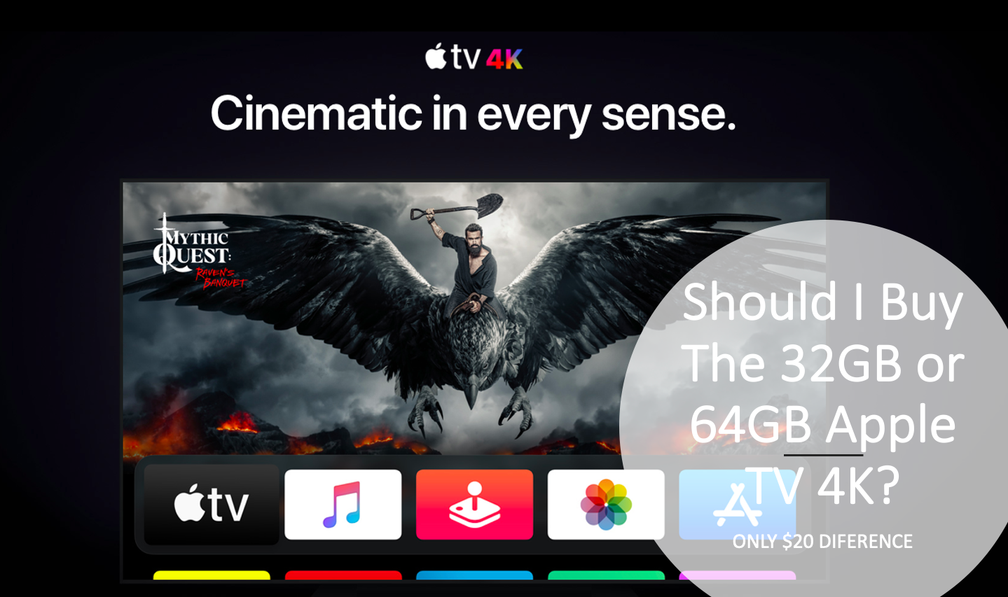 Should I Buy The 32gb Or 64gb Apple Tv 4k Apple Tv Apple Netflix App