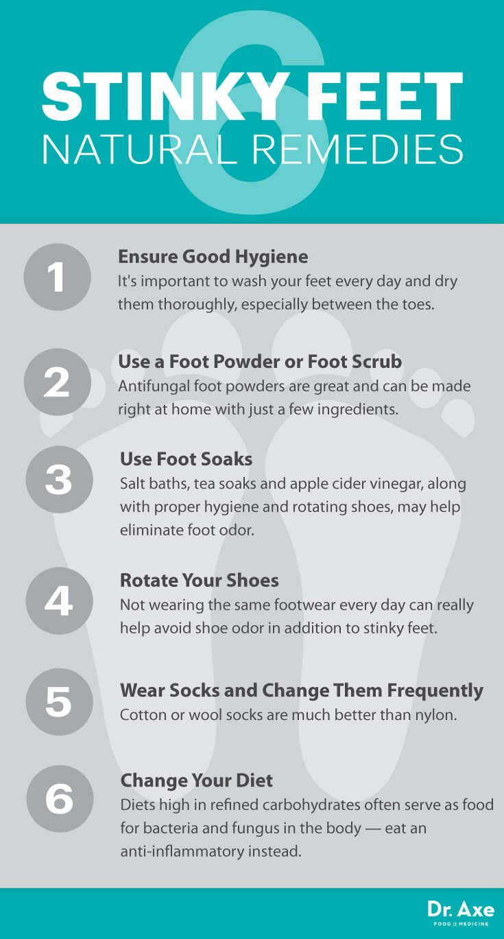 How To Get Rid Of Stinky Feet 6 Natural Ways Dr Axe Get Rid Of Stinky Feet Stinky Feet Smelly Feet Remedies