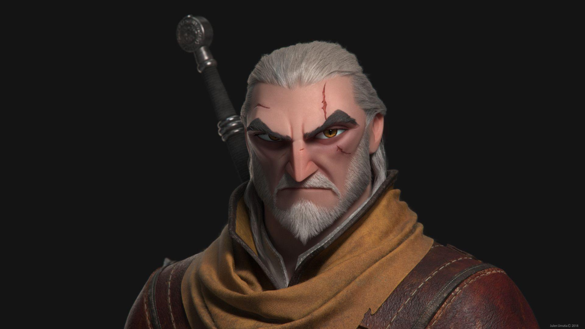 ArtStation - GERALT OF RIVIA - The Witcher III Wild Hunt ...