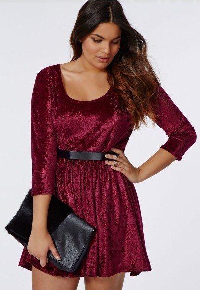 Crushed Velvet Skater Dress, $47.48 | • dress me up ...