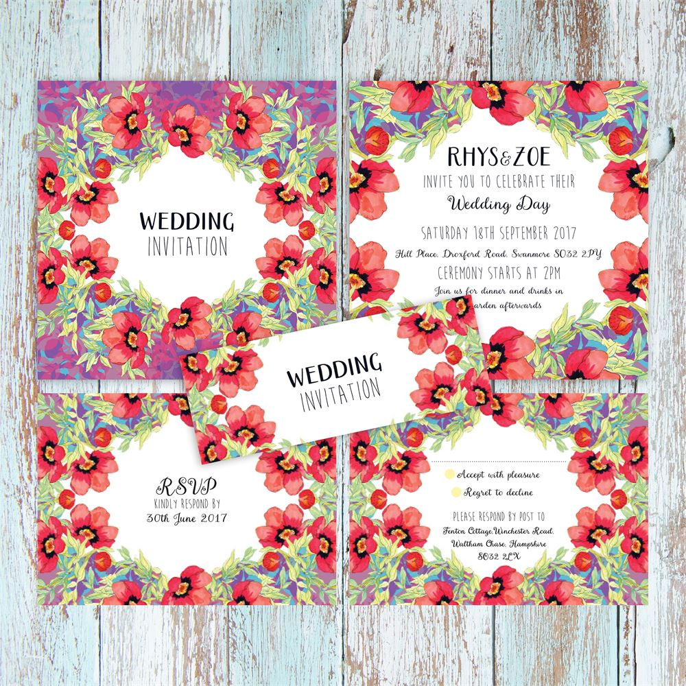 Floral Wedding Stationery: 29 of the Prettiest Designs | Pinterest ...
