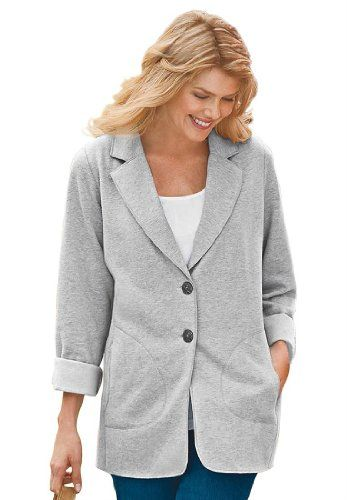 c649e72cbcd Fashion Bug Womens Plus Size Knit Blazer www.fashionbug.us