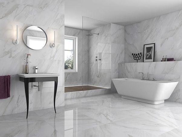 Geologica Calcuta High Gloss Porcelain White Marble Bathrooms Marble Bathroom Floor Marble Tile Bathroom