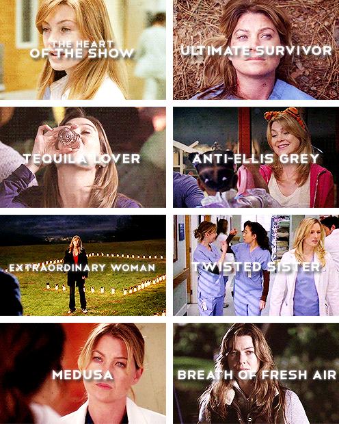 Grey\'s Anatomy Character Shades: Dr. Meredith Grey   Greys Anatomy ...