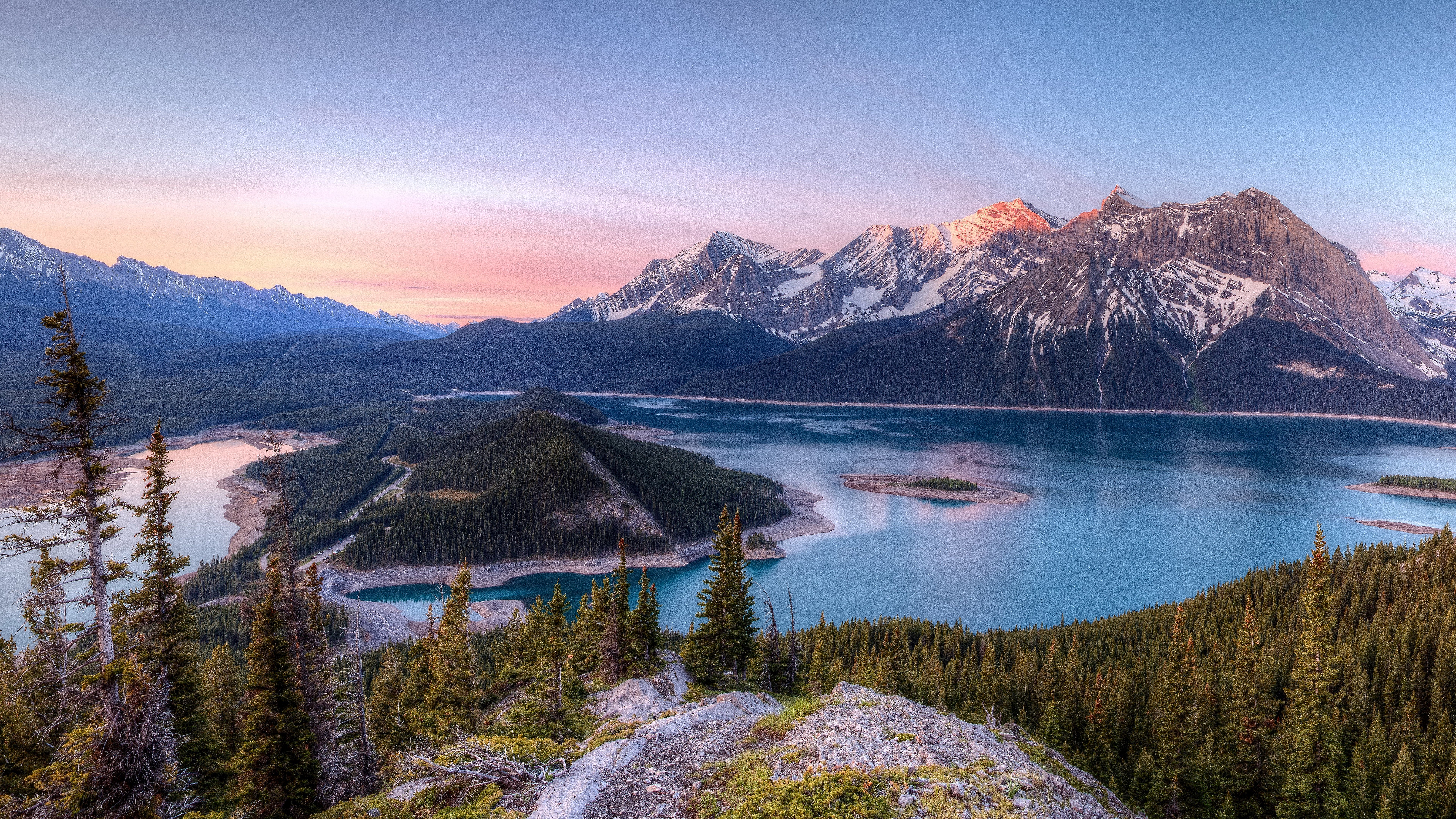 Mountains Lake River Sky Peak Wallpapers HD Wallpapers