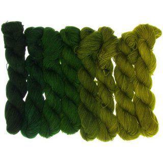 Fifties Gradient - Oliv bis Tannengrün