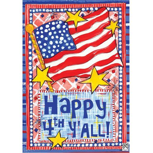 Happy 4th Double Sided House Flag Happy Fourth Of July Custom Decor Holiday Flag