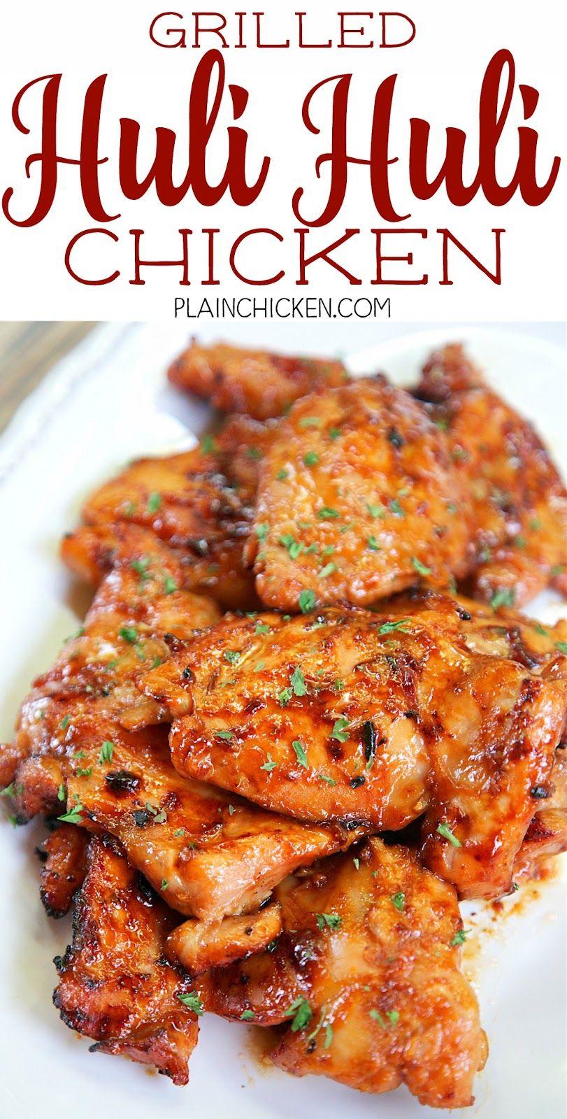 Grilled Huli Huli Chicken #grillingrecipes
