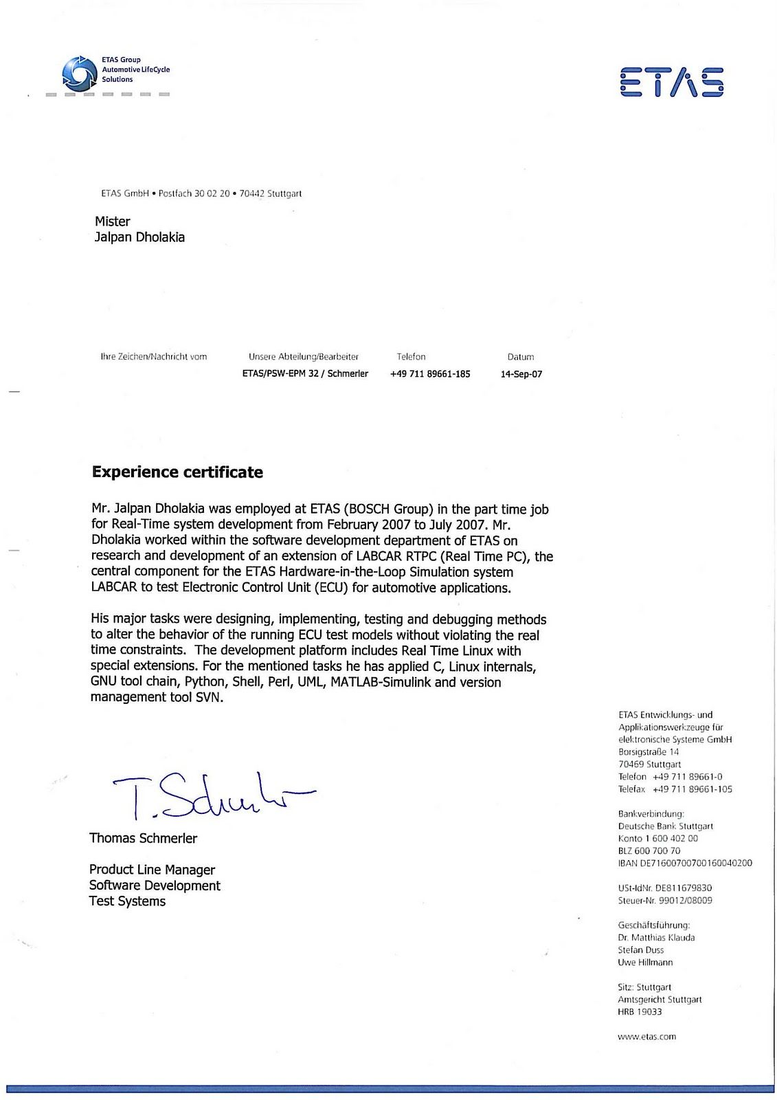 experience certificate format letter sample intent general resume