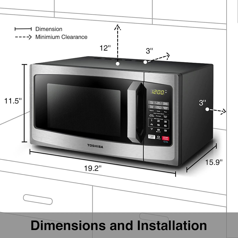 Toshiba 900 Watt Stainless Steel Microwave Watt Toshiba Microwave Steel Microwave Convection Oven Countertop Microwave Stainless Steel Microwave