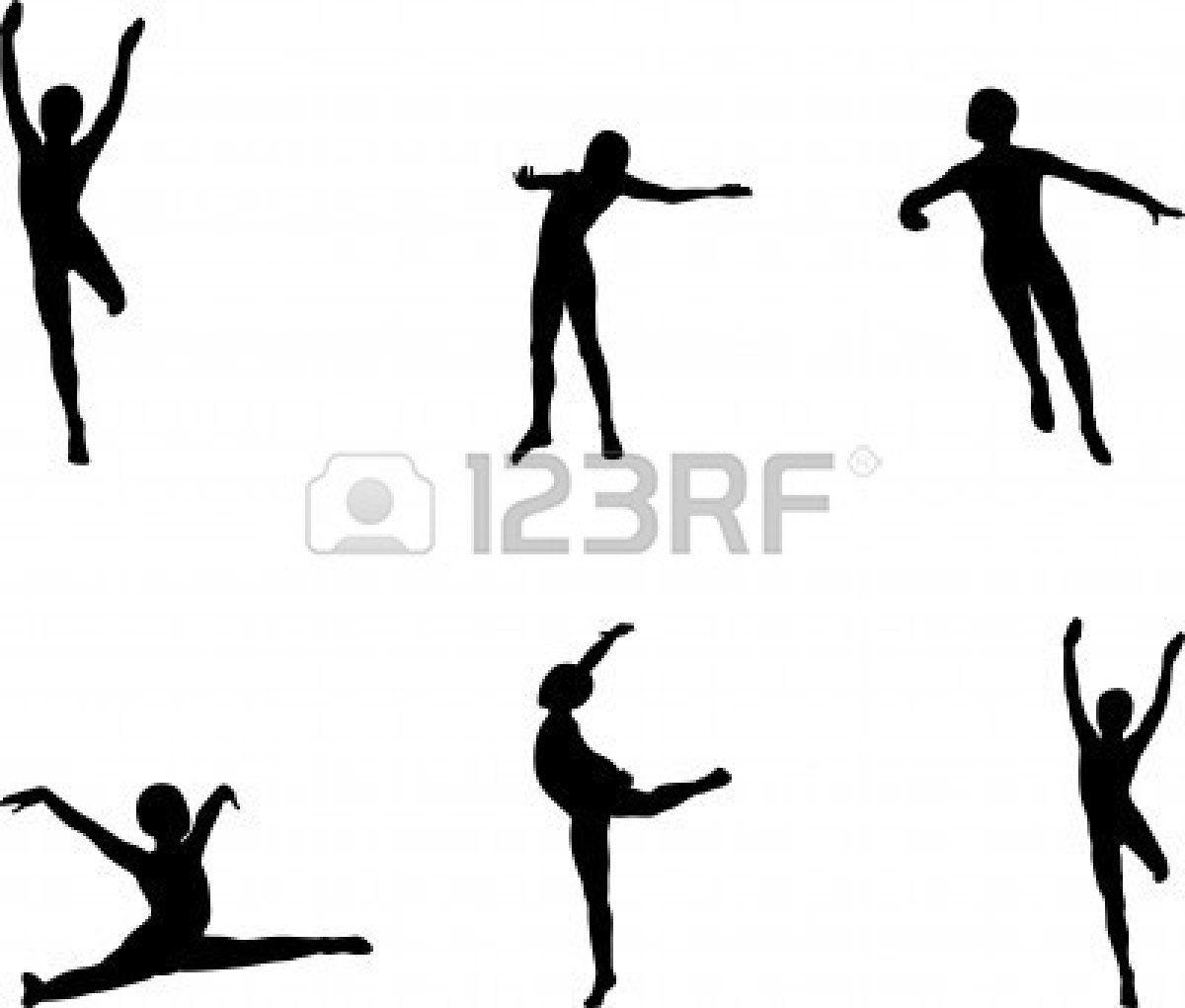 Gymnastics Silhouette Clipart 2014
